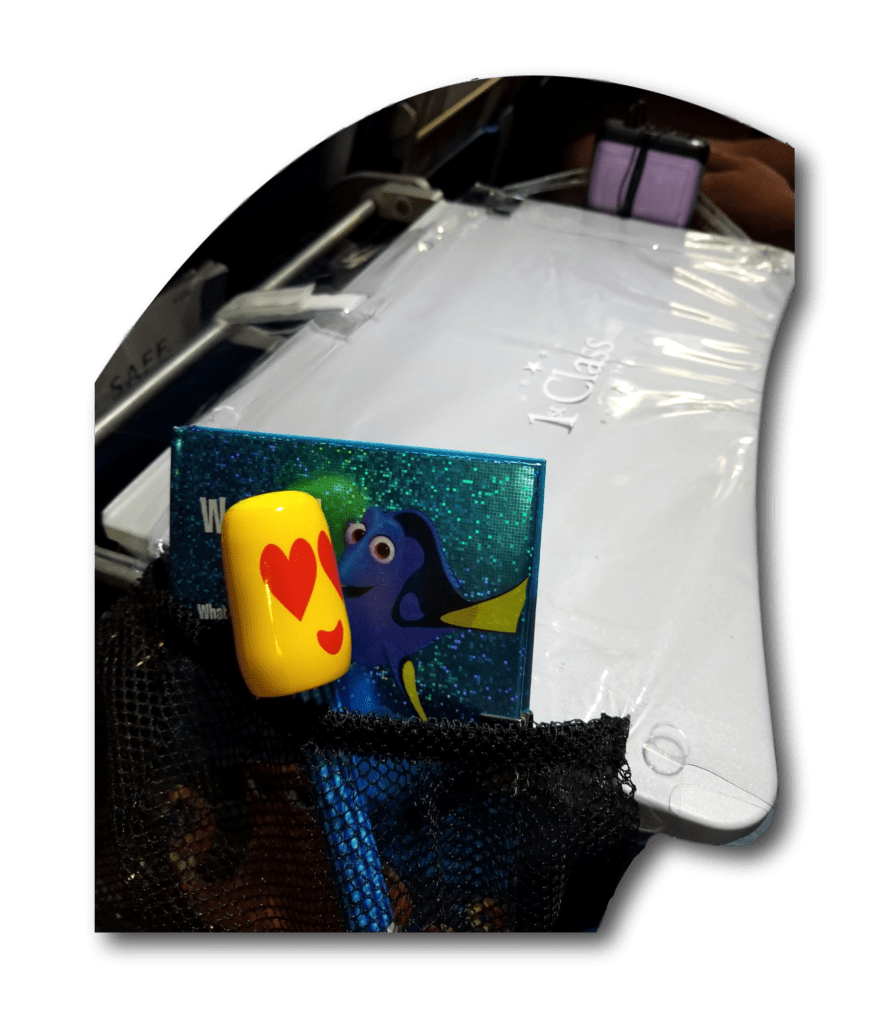 Airplane Tray Table cover with pockets